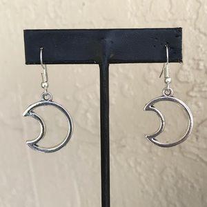 🔴SALE ! Boho dangly moon steel post earrings